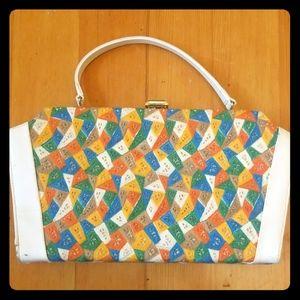Vintage Handbag with geometric patterning.